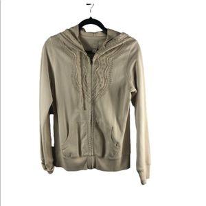Lucky brand beige Medium hoodie embroiled